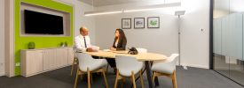 Small Regus Meeting Room with people